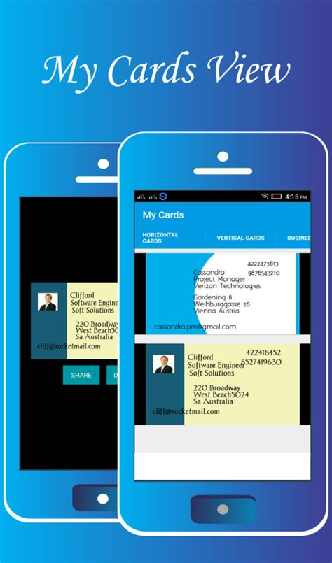 business card templates for android business card making soft image collections card design