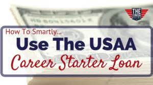 how to smartly use the usaa career starter loan