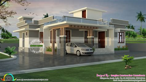 1200 sq ft rs 18 lakhs cost estimated house plan kerala