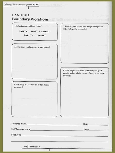 Setting Healthy Boundaries Worksheets by Worksheets Building Relationships In Secondary
