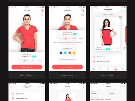 ecommerce mobile template ui kit for ecommerce mobile app freebiesbug