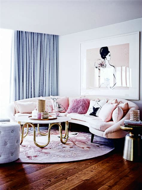 Pink Sofa Living Room The Prettiest Living Room Ideas With A Pink Sofa