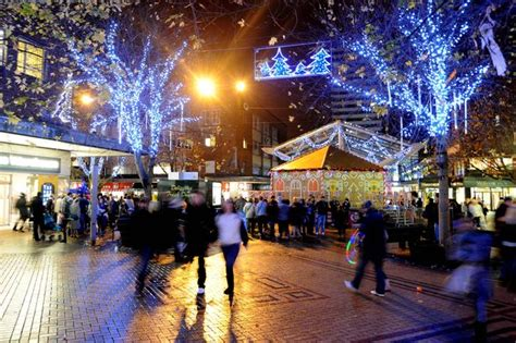 look coventry christmas lights switch on throughout the