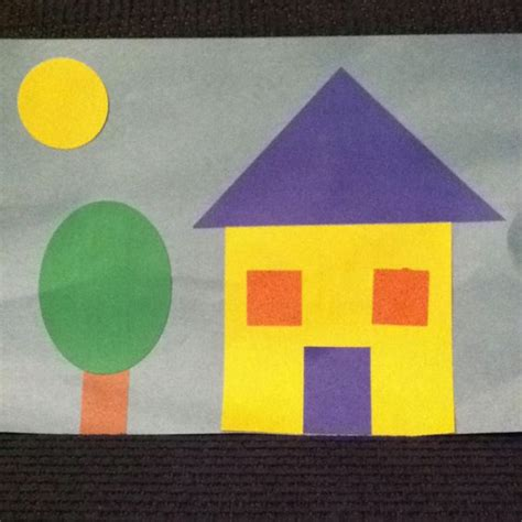 shape house shape house preschool craft for learning shapes where i