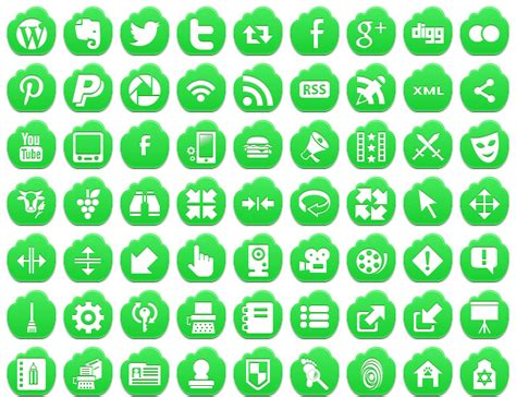Home Design Free Software free green cloud icons