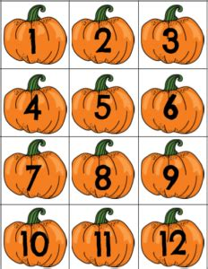 printable pumpkin number cards fall for these 9 fall themed resources for your classroom