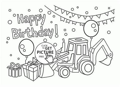 Happy Birthday Card For Boys Coloring Page For Kids Happy Birthday Card Printable Coloring Pages