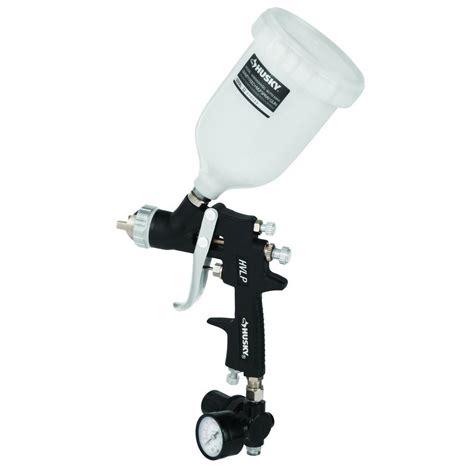 home depot paint sprayer gun husky gravity feed composite hvlp spray gun h4850ghvsg
