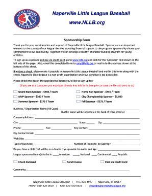 Baseball Sponsorship Letter Exles To Download In Word Pdf Editable Fillable Printable Baseball Sponsorship Letter Template