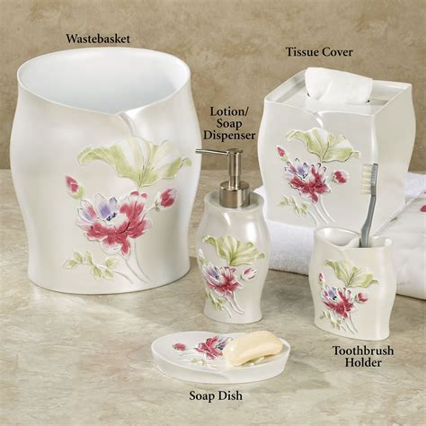 Ivory Bathroom Accessories floral ivory bath accessories