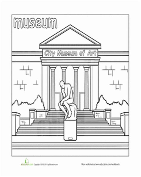 paint the town museum coloring page education