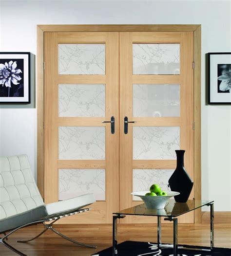 shaker oak 4 panel door with obscure glass shawfield doors
