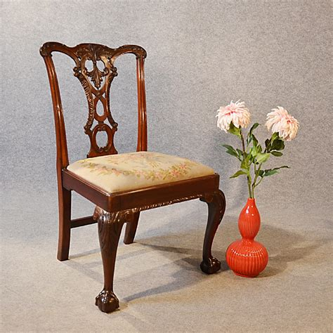 antique chair chippendale revival dining side