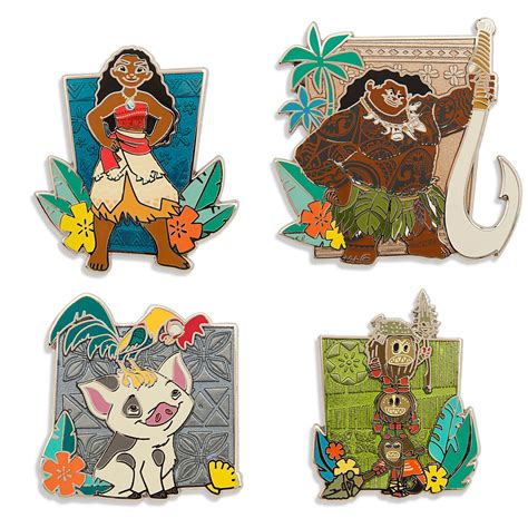 your wdw store disney pin disney moana limited edition pin set inside the magic