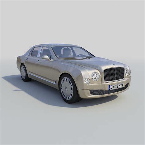 bentley sedan models bentley mulsanne 2011 3d model max cgtrader