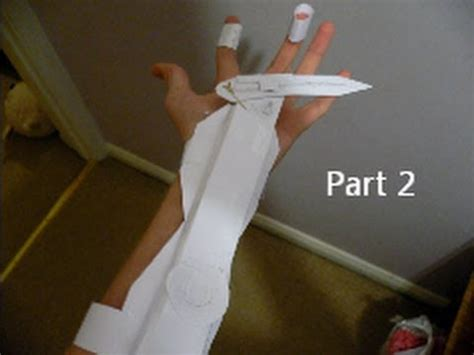 How To Make A Paper Assassins Creed Blade - assassin s creed 3 easy paper swich blade tutorial