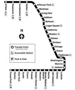 Chicago Blue Line Map by Chicago Blue Line Map Train Mapsof Net