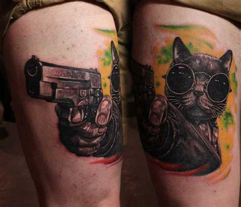ganster cat tattoo idea