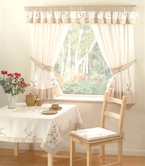 country kitchen curtains tie backs 46 x 54 quot drop flora ebay