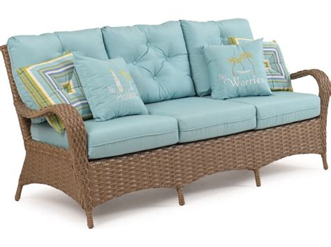 Replacement Cushions For Rattan Sofa by Palm Springs Rattan 6000 Series Seating Sofa