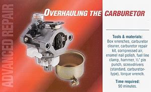 how to rebuild or repair a small engine carburetor