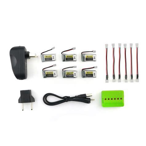 Carger Drone Eachine E011 Dll 6pcs eachine e010 e010c e011 e011c e013 3 7v 260mah 45c lipo battery charger sets