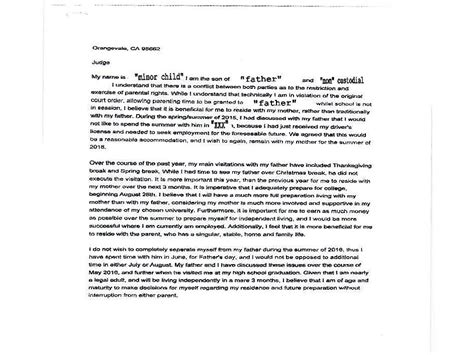Divorce Letter To Parents Parental Alienation Visitation Non Custodial Parent Child Support Divorce Support