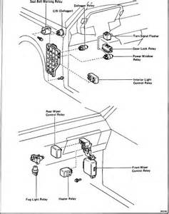 passenger compartment switches and relays toyota celica