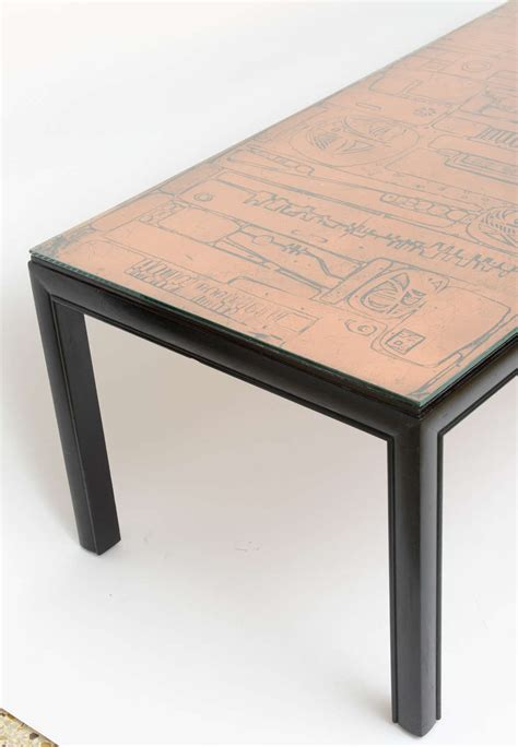 Hammered Copper Coffee Table Hammered Copper Top Coffee Table At 1stdibs