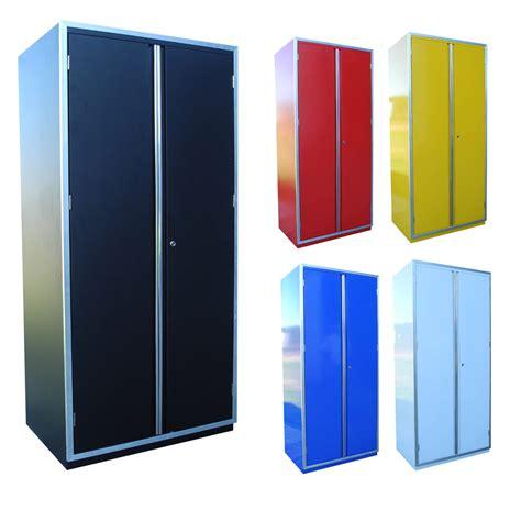 large double door storage cabinet redline 4 shelf locker cabinet storage double door