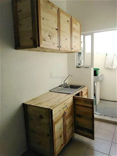 best 25 pallet kitchen cabinets ideas that you will like on pallet cabinet pallet