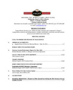 of board template 12 board of directors meeting agenda templates free