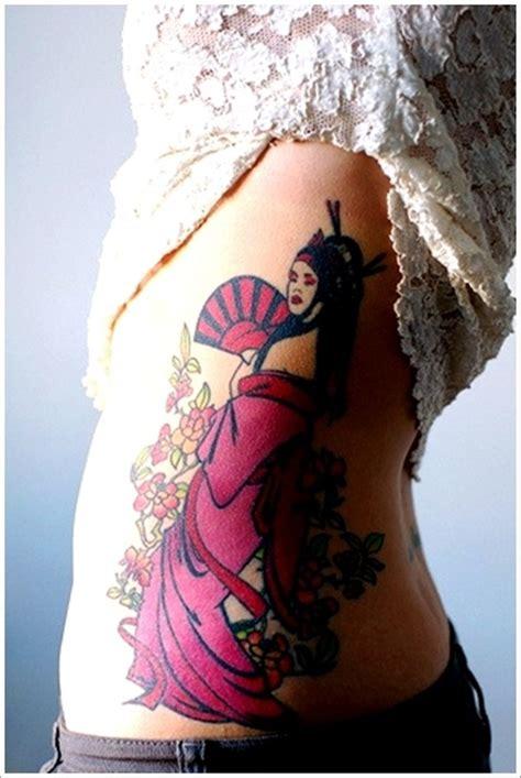 geisha tattoo on side geisha tattoo images designs