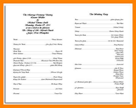 Wedding Program Brochure Template Ideal Vistalist Co Catholic Wedding Order Of Service Template