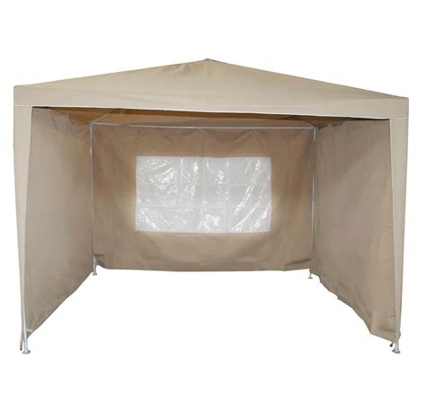 gazebo walls bentley garden 3m x 3m beige gazebo with walls