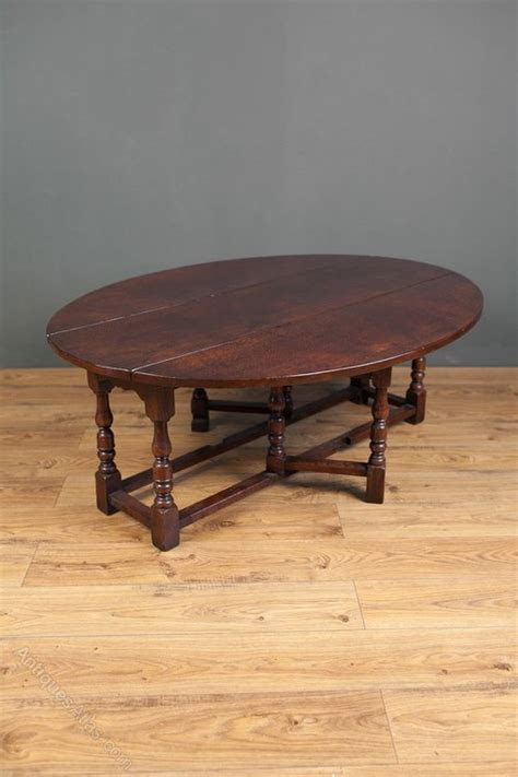 Gateleg Coffee Table Antiques Atlas Jacobean Revival Oak Gateleg Coffee Table