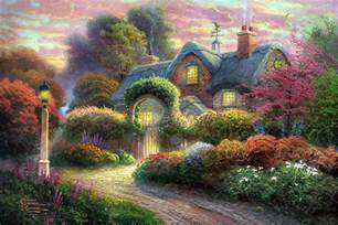 kinkade on cottages gingerbread and