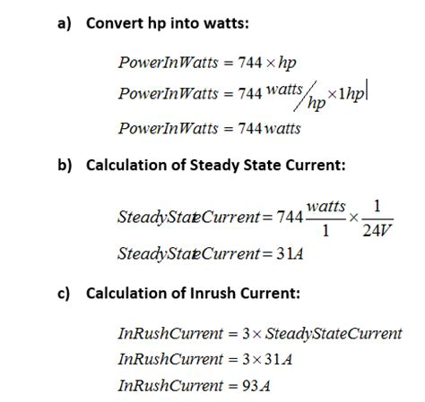 capacitor inrush current calculation dc how to limit dc motor inrush current ametherm