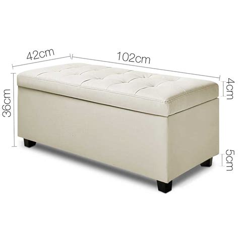 cream ottoman storage bed large pu leather ottoman bed blanket toy chest storage box