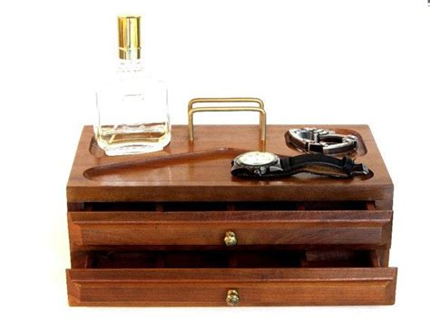 Mens Desk Organizer Reserved For N Vintage S Valet Box Wood Office Desk Organizer Box Unisex Jewelry