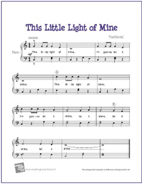 how to play this light of mine on piano this light of mine free easy piano sheet