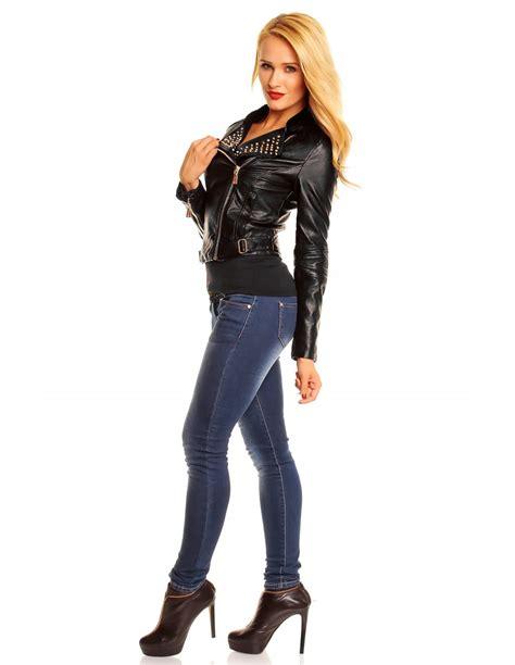 chaqueta de cuero para mujer chaquetas piel moteras