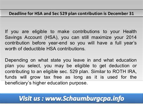 section 529 plan contributions tax preparation service in schaumburg 2014 year end tax