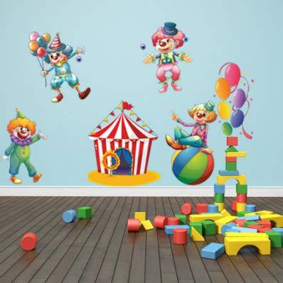 circus wall stickers wallstickers folies circus