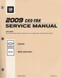 auto repair manual online 2009 gmc sierra user handbook 2009 chevrolet silverado gmc sierra sierra denali factory service manual 7 vol set