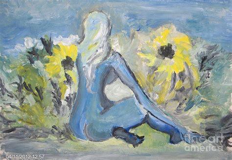 art dinca beauty in sunflower field painting by farfallina art
