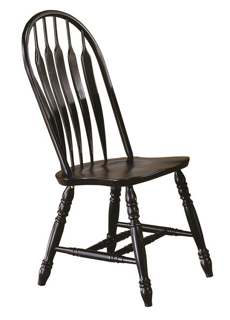 Antique Black Dining Chairs Sunset Trading 41 Comfort Back Dining Chair In Antique Black Sunset Trading