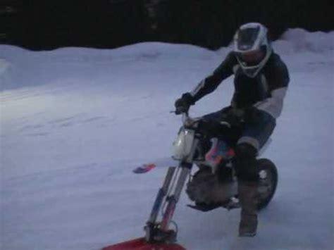 dirt bike ycf riding ice snow bike conversion neige glace