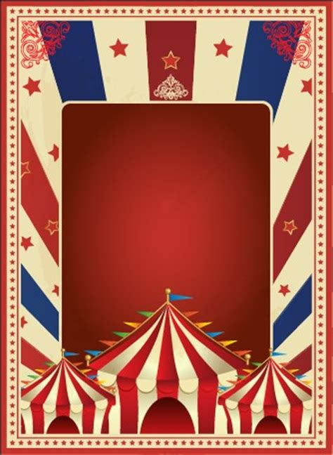 Vintage Style Circus Poster Design Vector 03 Vector Cover Free Download Circus Poster Template Free