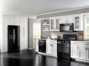 White Kitchen Cabinets With Black Appliances Kitchen White Cabinets Black Appliances The Interior Design Inspiration Board